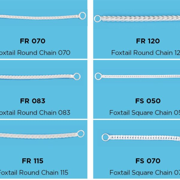 silver Franco & Foxtail chain