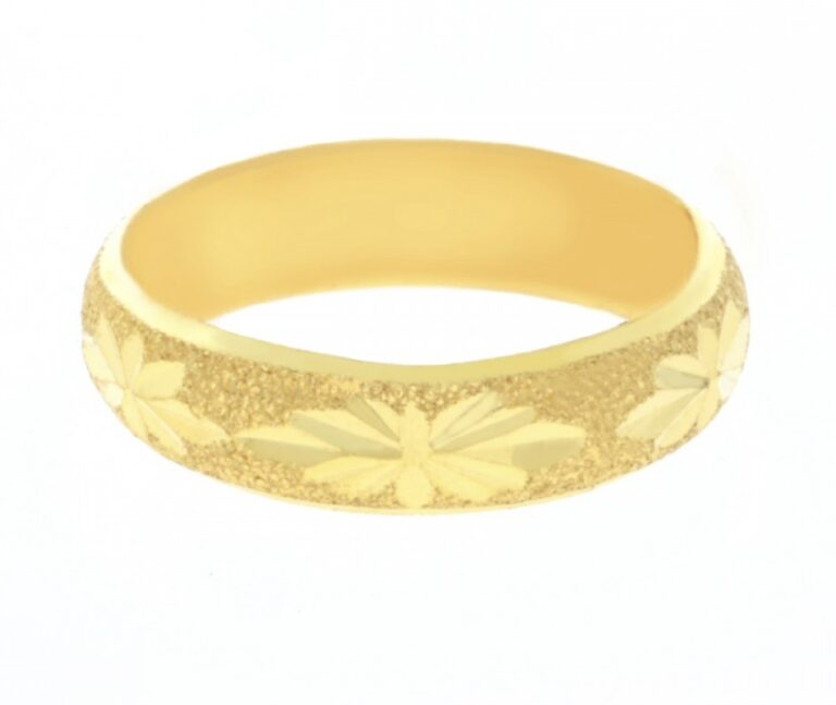 23k gold ring simple