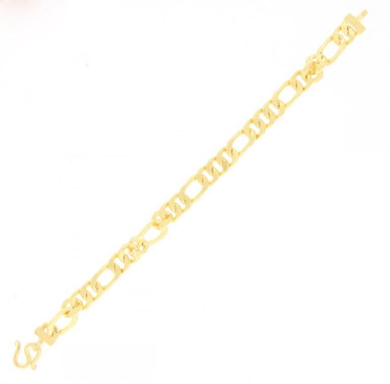 23k gold bracelet with chain
