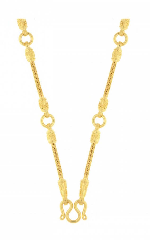 23k gold chain with rings