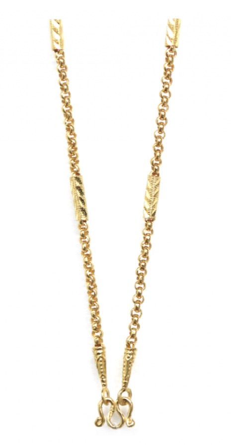 23k thick gold chain